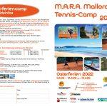 Back to M.A.R.A. Mallorca Tenniscamp 2022 – 09.04.-16.04./19.04.22